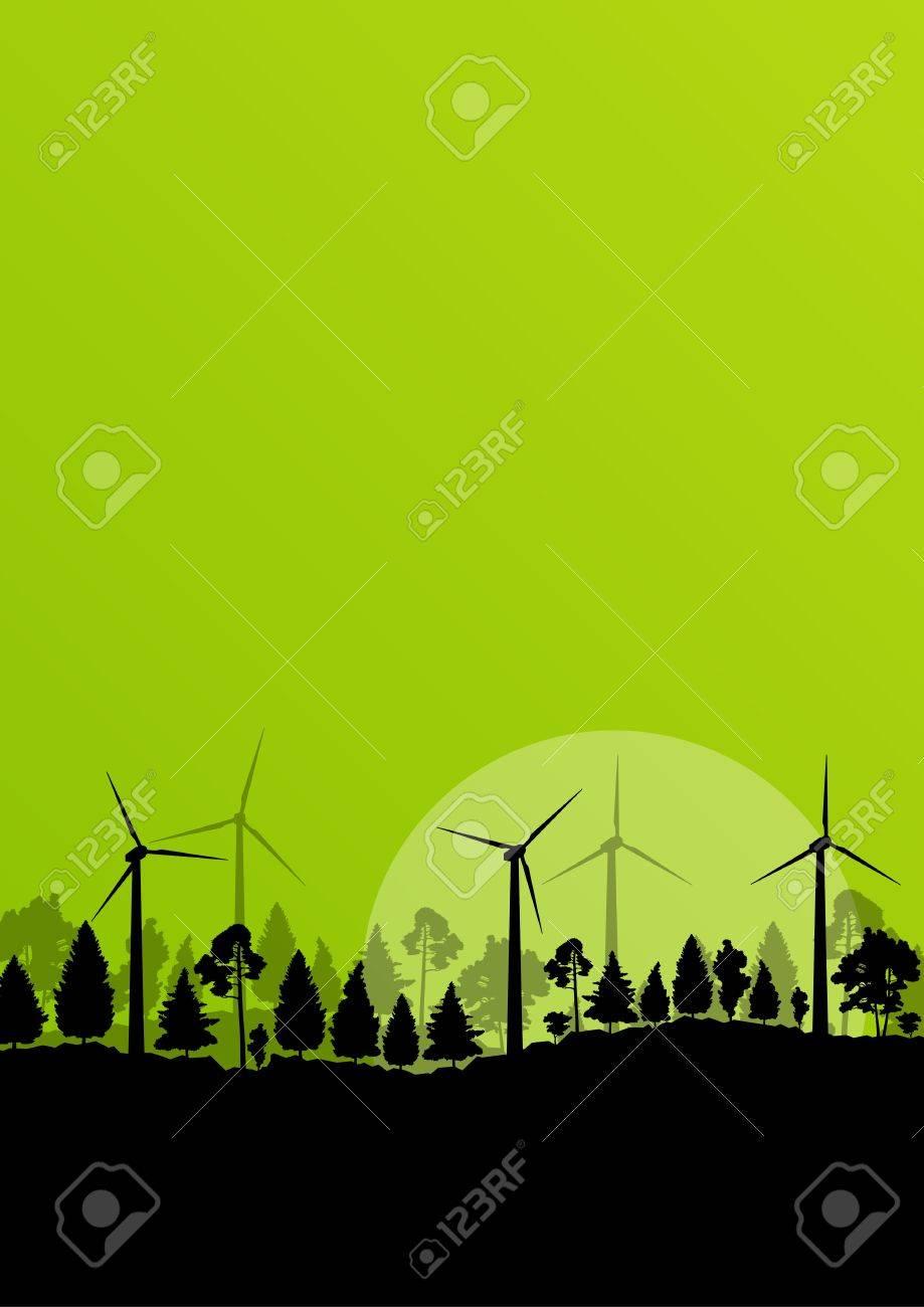 Alternative energy electricity wind generators Stock Vector - 20899882