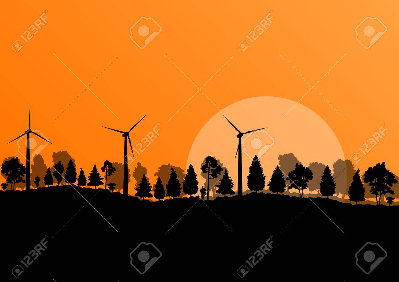 Alternative energy electricity wind generators Stock Vector - 20900201