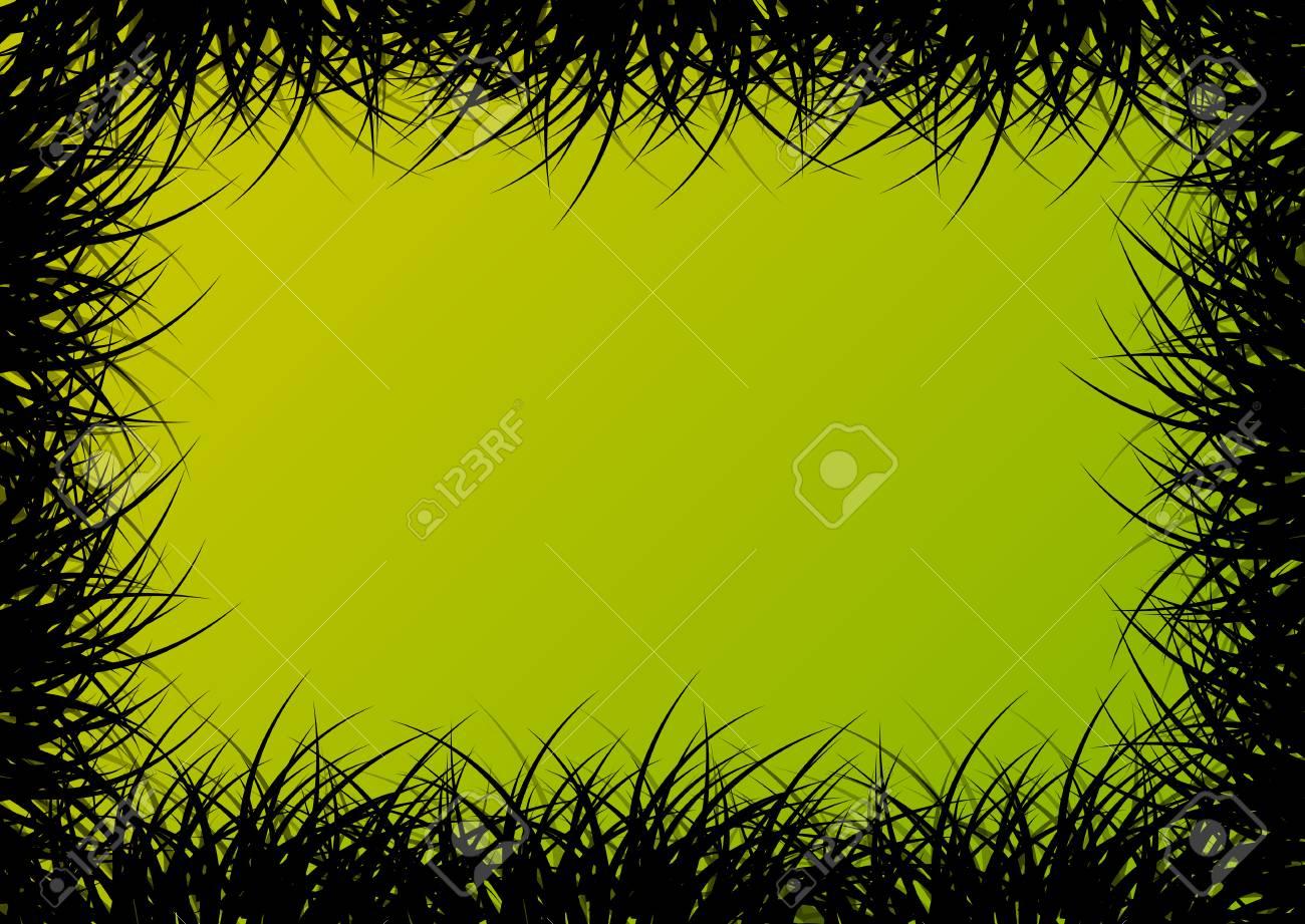 Grass detailed silhouette landscape illustration background vector for poster Stock Vector - 23814178