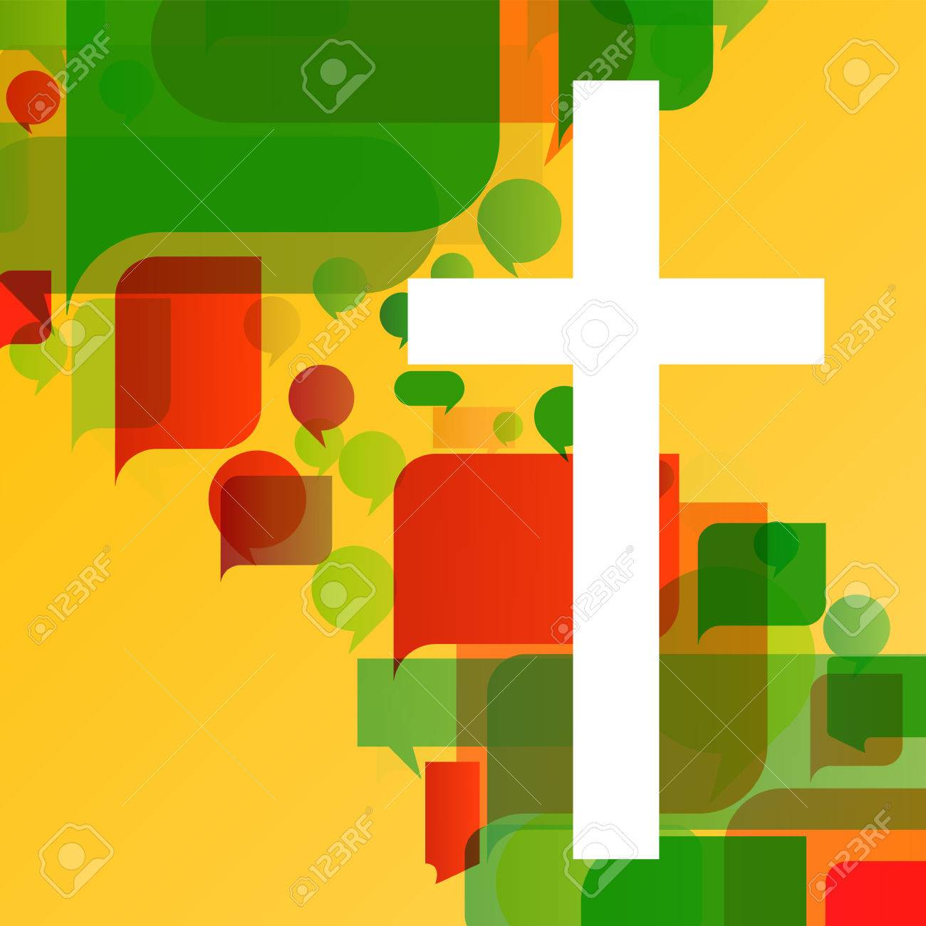 Christianity religion cross mosaic concept abstract background - 25213783