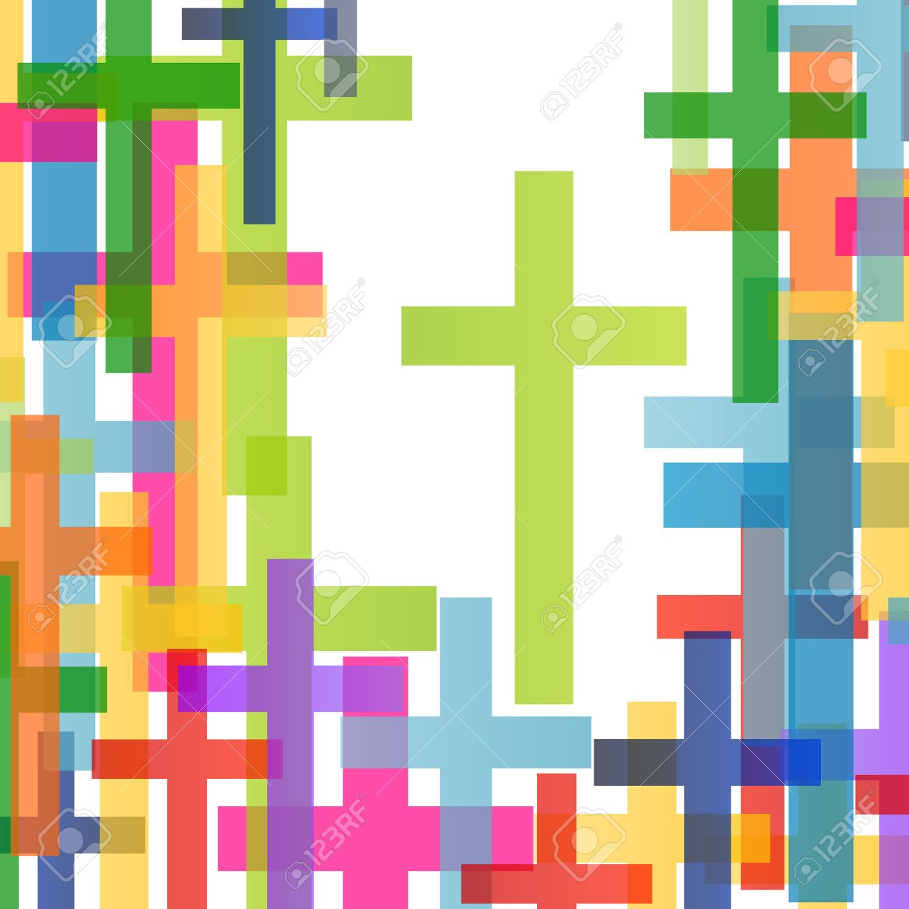 Christianity religion cross concept abstract background vector illustration - 36769344