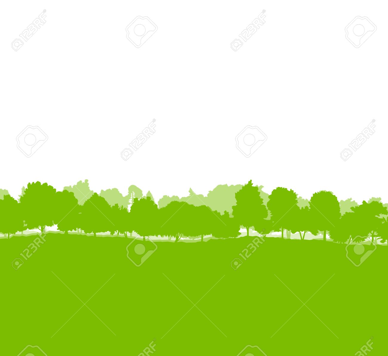 Forest trees silhouettes landscape illustration background ecology vector concept - 37764952