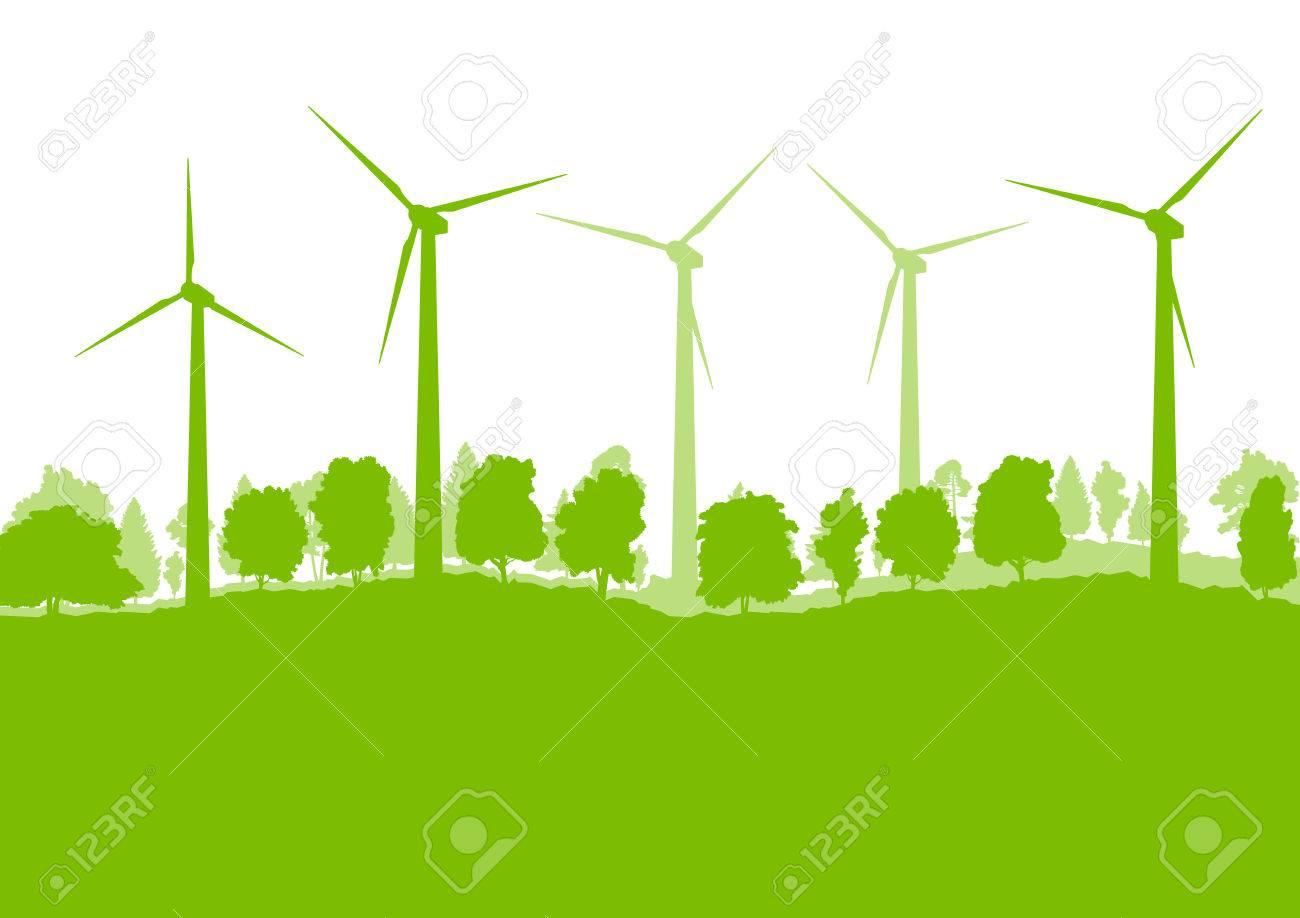 Wind generator turbine clean energy concept vector background concept - 40571052