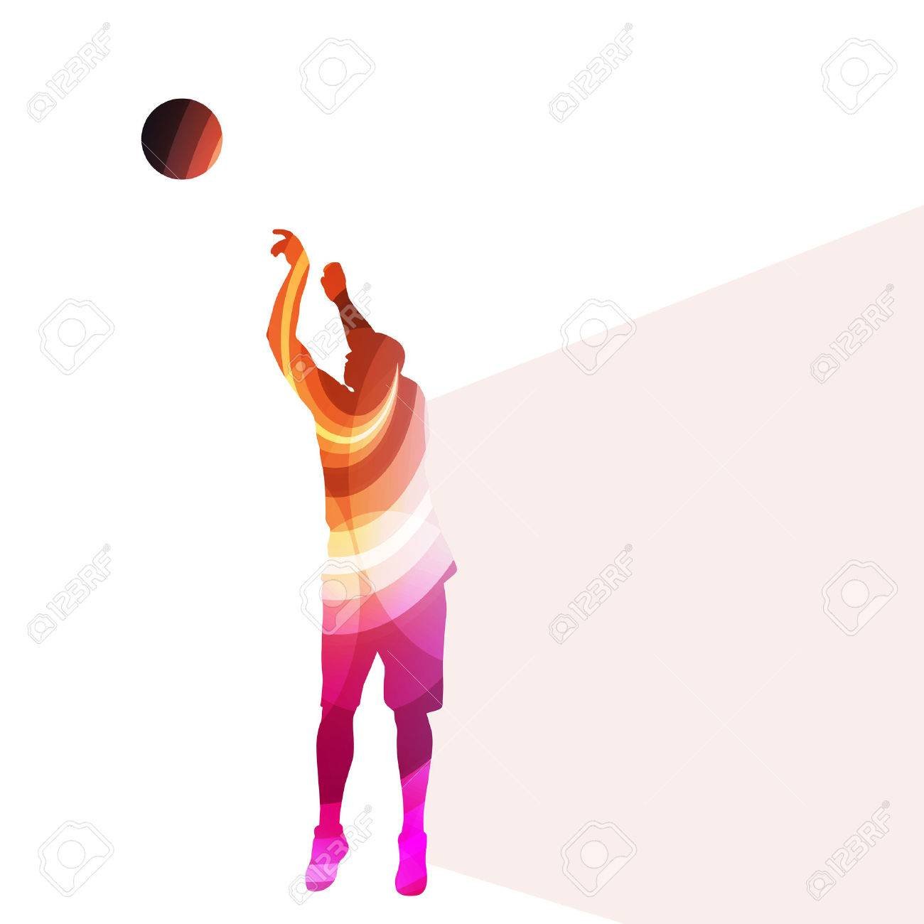 Basketball Player Man Silhouette Illustration Vector Background