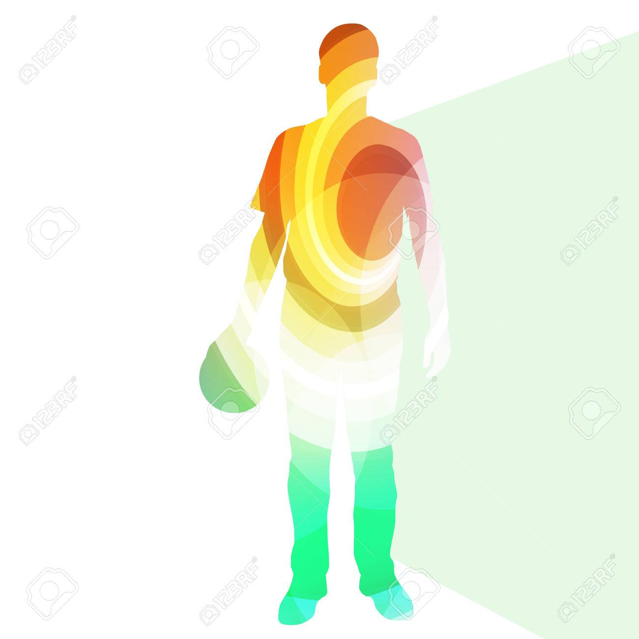 man bowler bowling silhouette illustration vector background