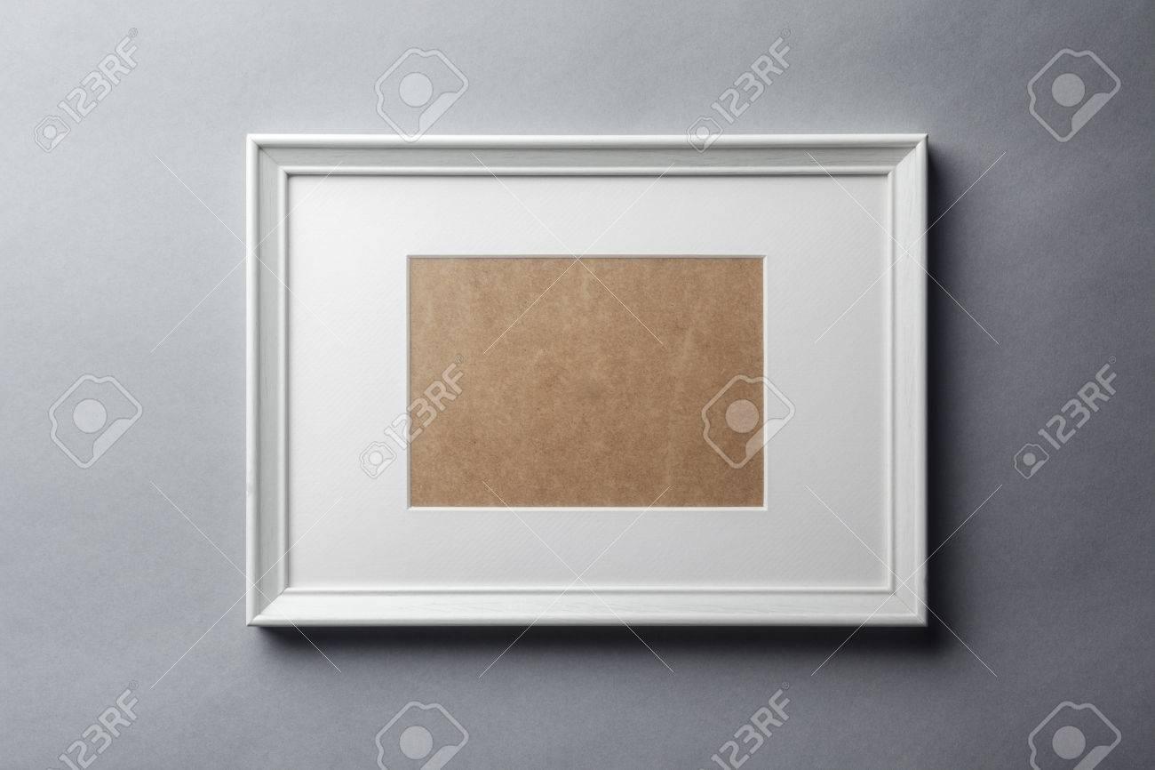 Hervorragend Weiß Schlicht Leer Holz-Bilderrahmen Mit Weißen Matte GV83