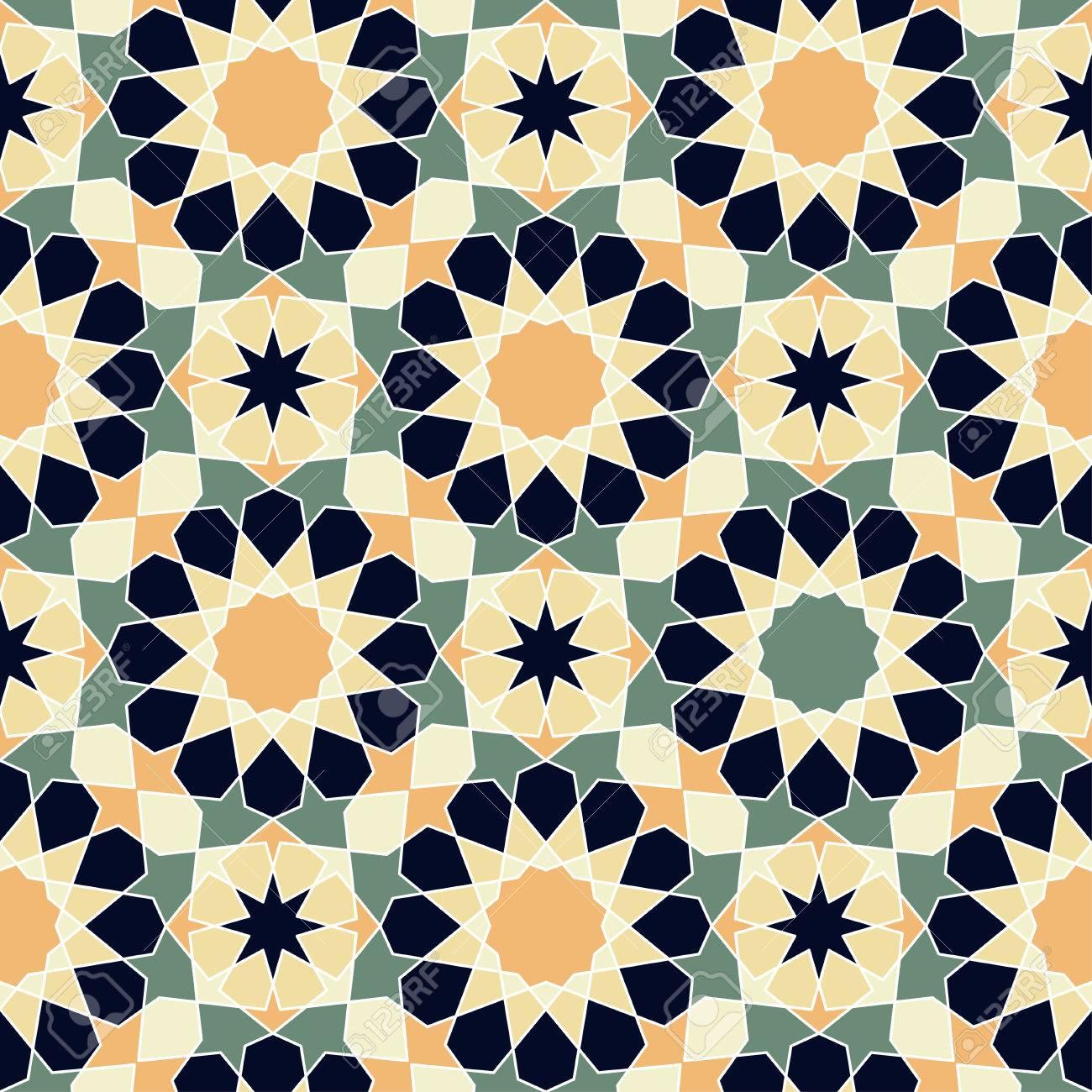 Modern Line Vector Traditional Arabic Pattern Background Design ...