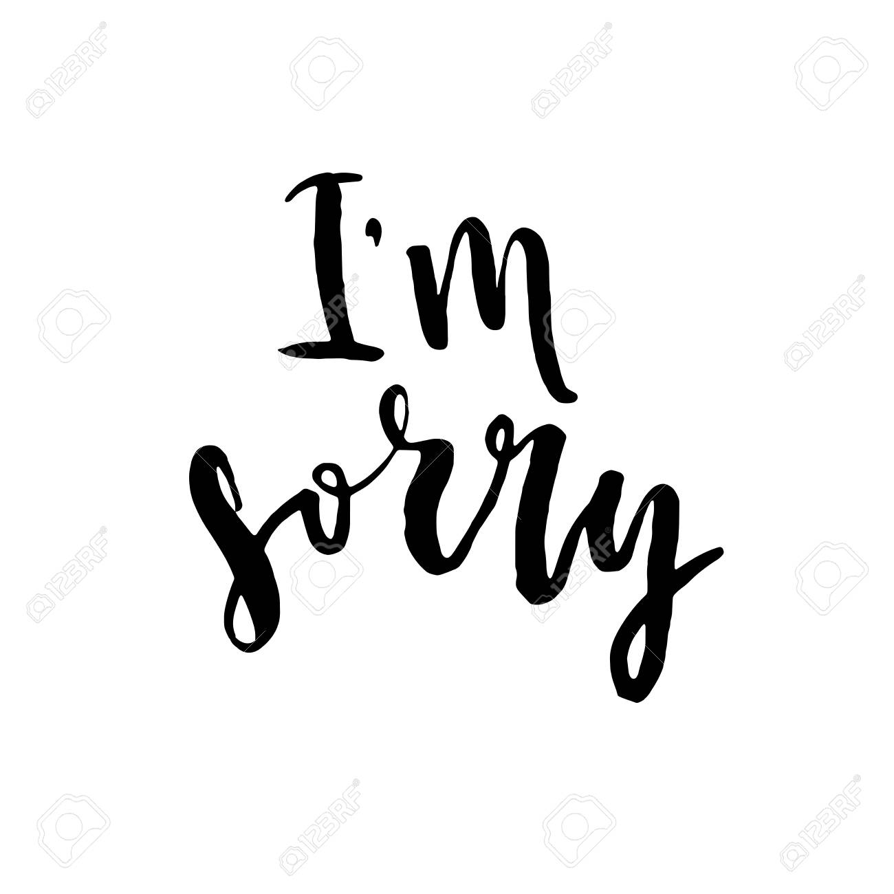 Im sorry hand drawn lettering background ink illustration im sorry hand drawn lettering background ink illustration modern brush calligraphy altavistaventures Choice Image