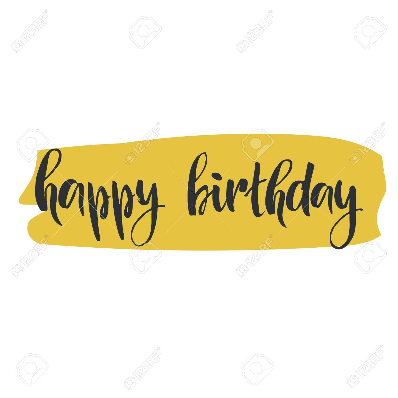 Happy Birthday Hand Drawn Lettering Element For Your Design Royalty Free Cliparts Vectors And Stock Illustration Image 138193419