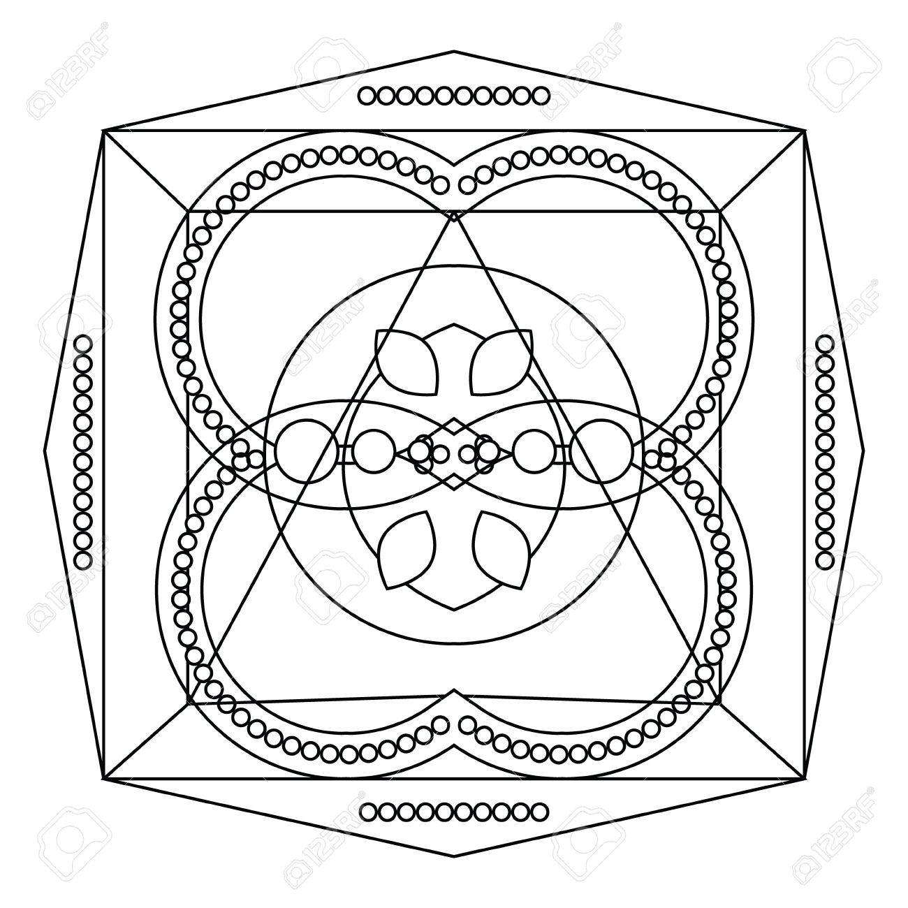Relaxing Coloring Page With Vector Mandala For Kids And Adult Art Therapy Meditation