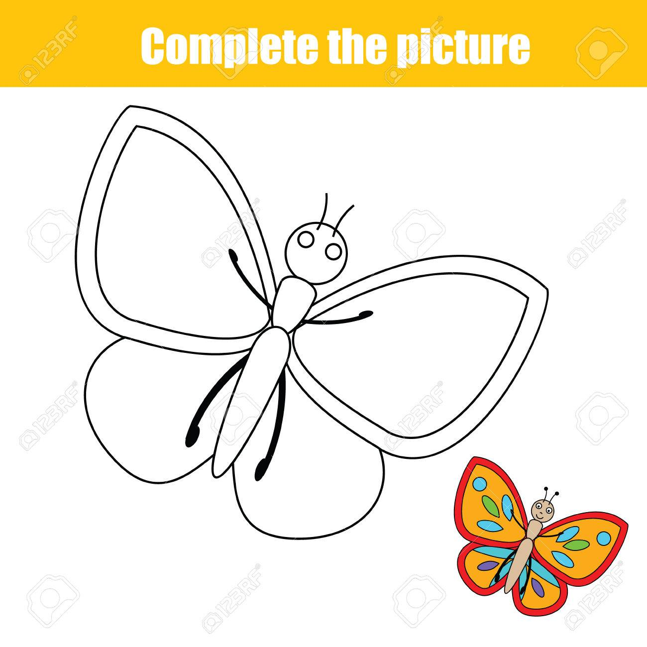 Remplissez Le Enfants D Image Educative Jeu De Dessin Animaux Theme Coloriage Pour Les Enfants Vector Illustration Imprimable
