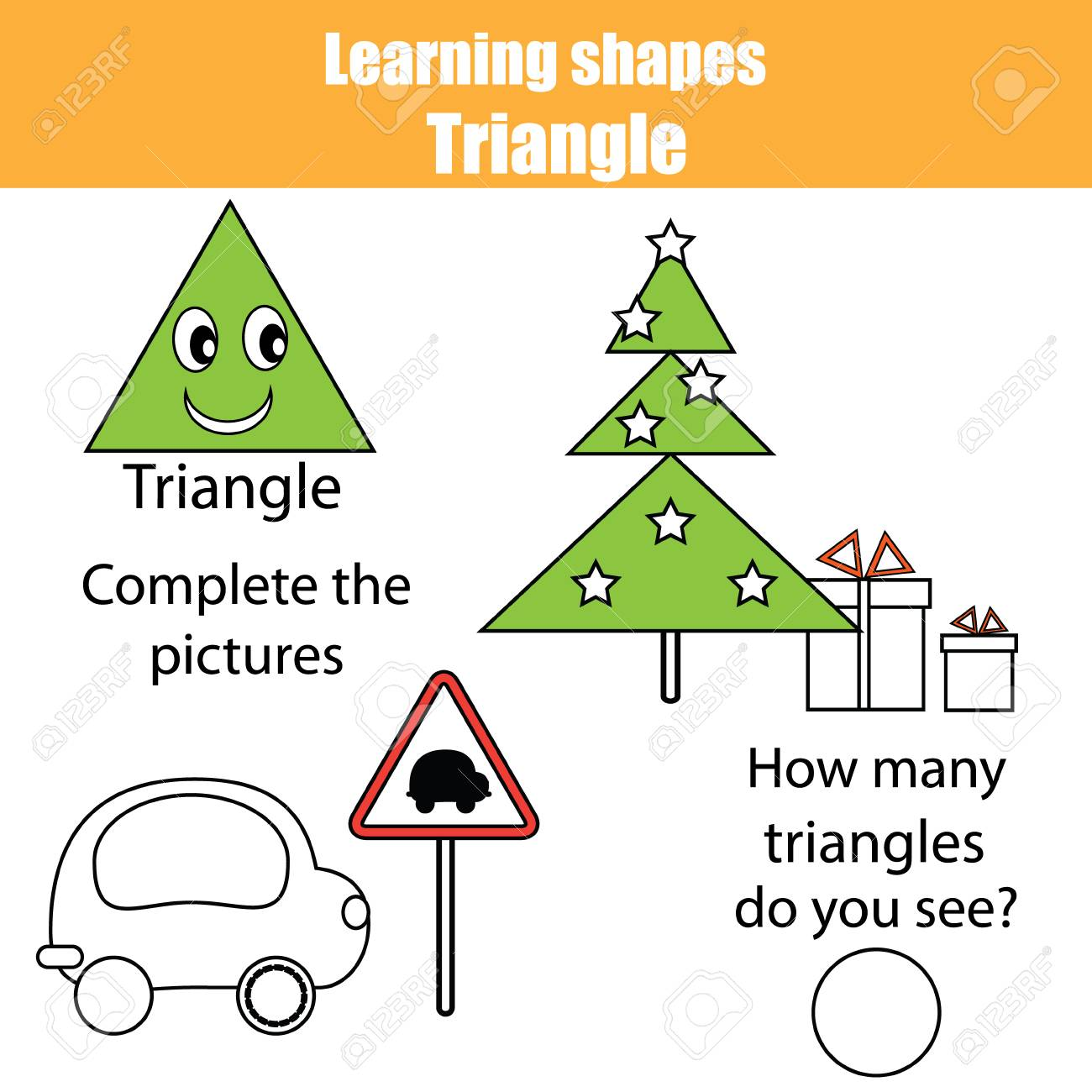 Educational Children Game, Kids Activity. Learning Geometry Shapes ...
