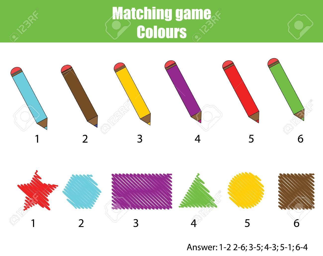 Educational Kinder-Spiel. Passende Spiel Arbeitsblatt Für Kinder ...