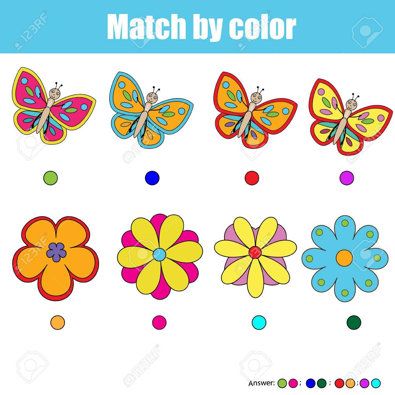 los pares de juegos para nios encontrar el par correcto para cada mariposa y