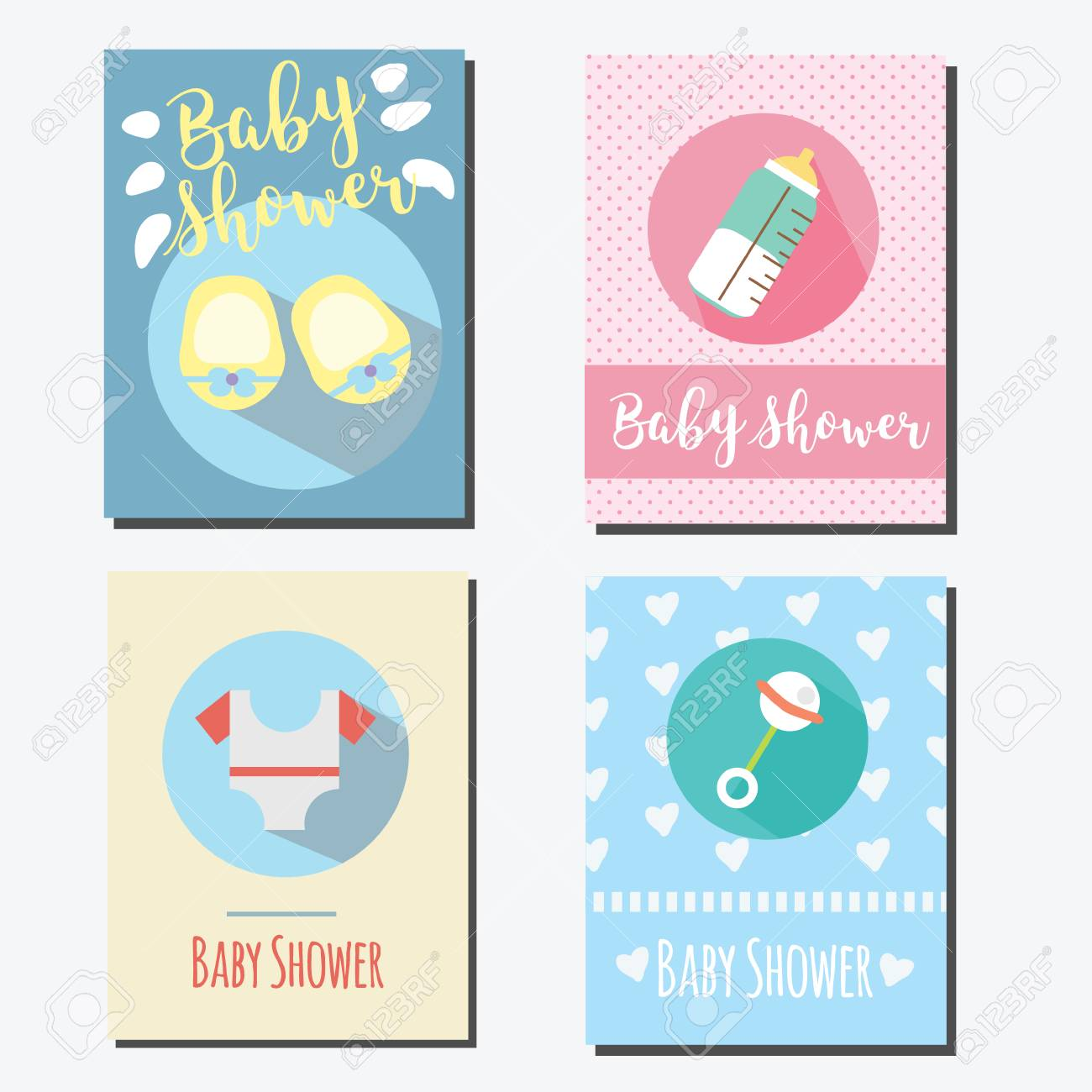 Baby Shower Party Cards Invitations Design Templates Design
