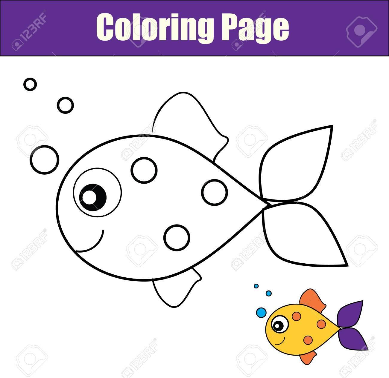 Página Para Colorear Con Los Peces Colorear La Actividad De Dibujo Peces