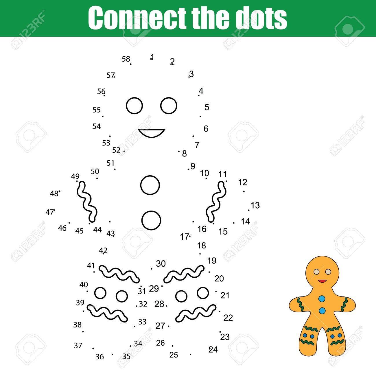 Conectar Los Puntos Hijos Juego De Dibujo Educativo Punto A Punto Por Los Números De Juego Para Niños Navidad Vacaciones De Invierno Tema