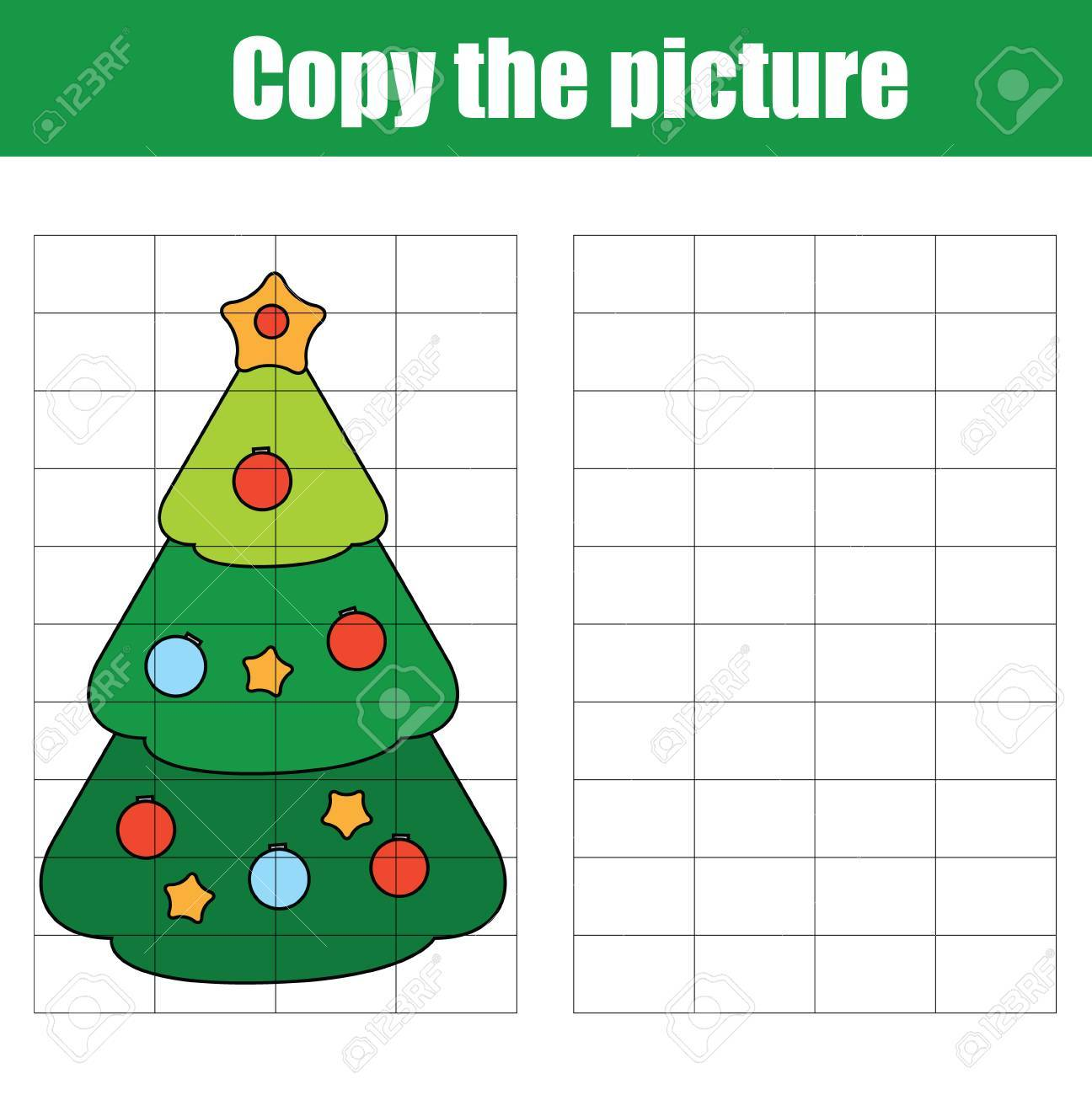 Copy The Picture Using A Grid Children Educational Drawing Game ...