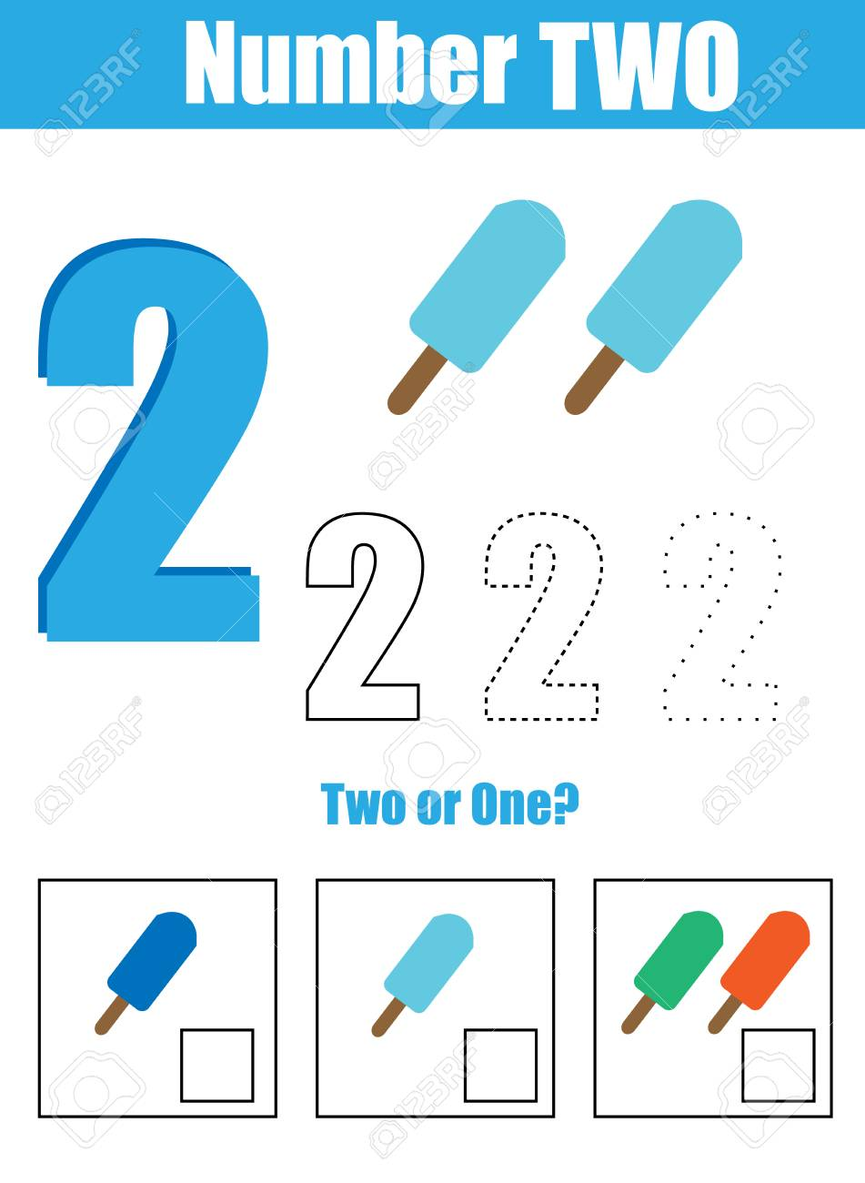 Handwriting Practice. Learning Mathematics And Numbers. Number ...