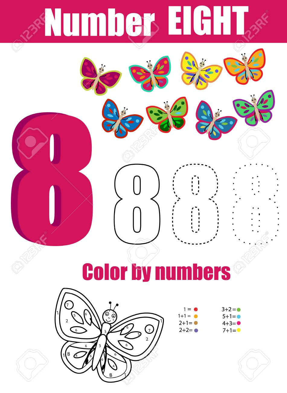 Práctica De Escritura A Mano. Aprendiendo Matemáticas Y Números ...