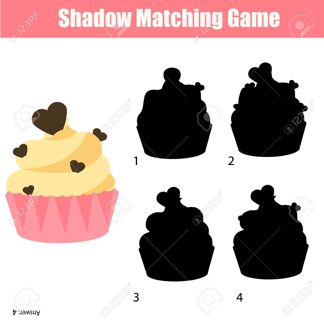 Schatten-Matching-Spiel Für Kinder. Für Kinder Vorschul-und ...
