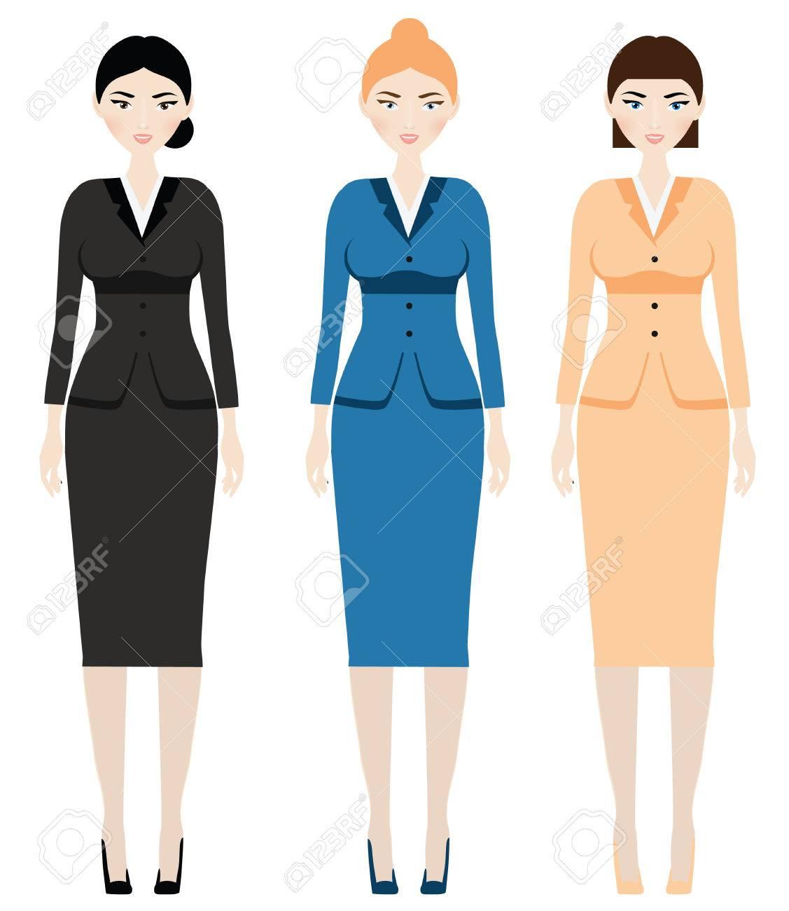 Frau Kleiderordnung. Weibliche In Der Geschäftsausstattung ...