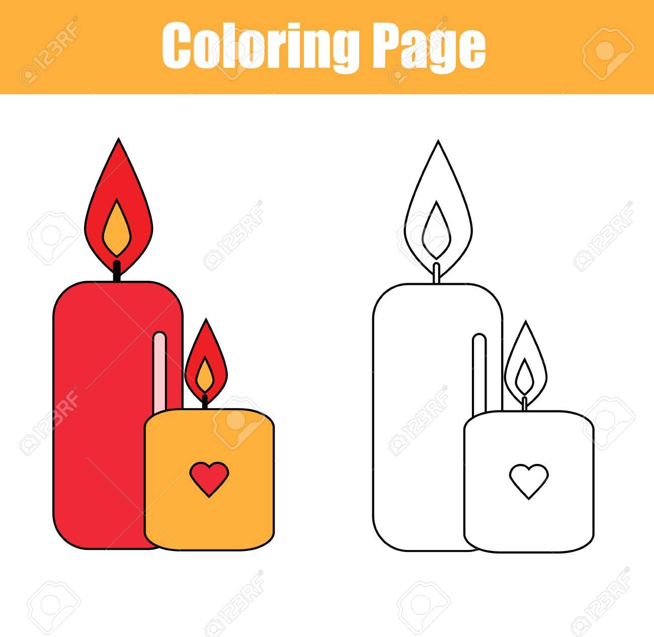 photo relating to Printable Candles named Coloring web site with candles. Replica colours coloring e book for children