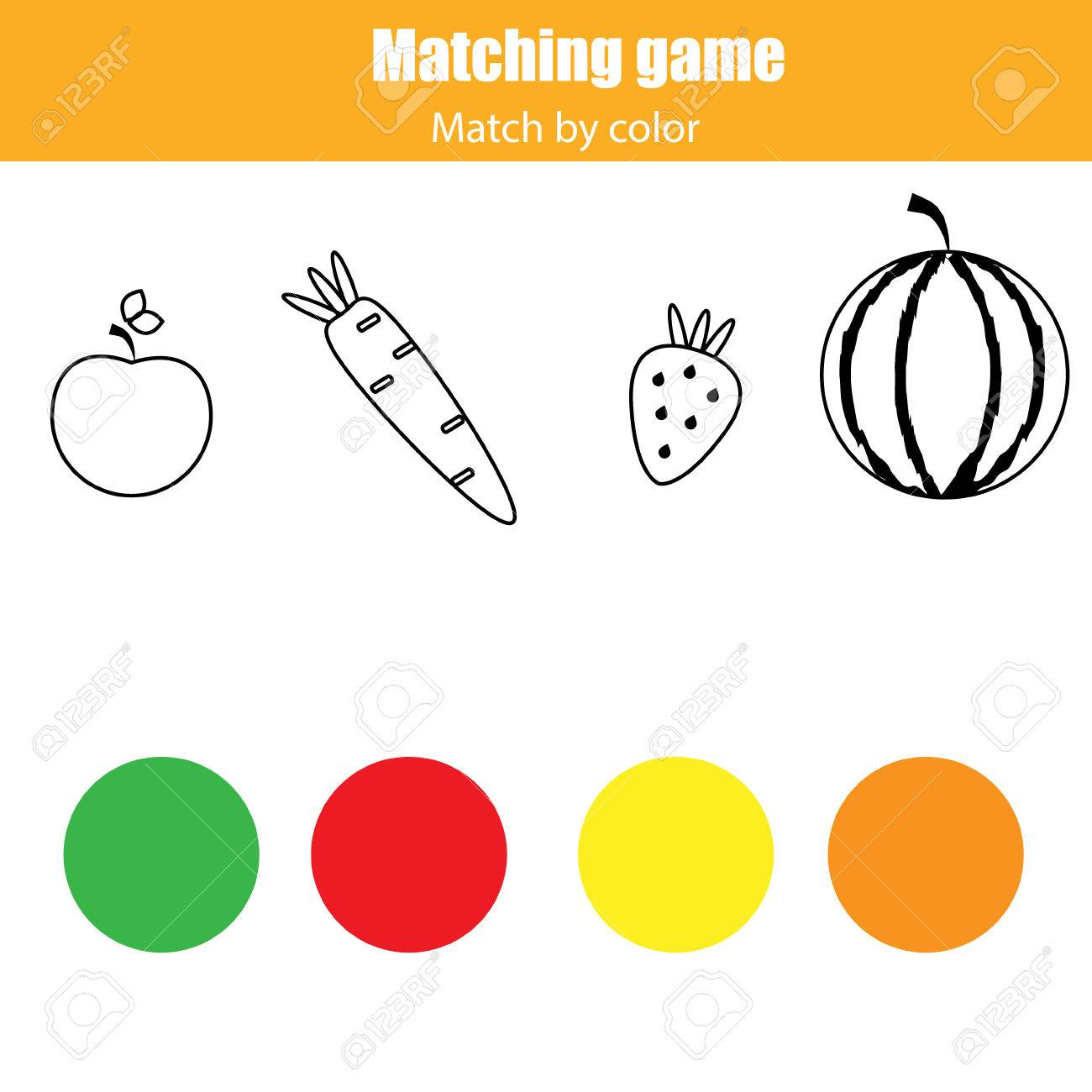 Connect The Colors >> Matching Pairs Game For Kids Match By Color Connect Food With