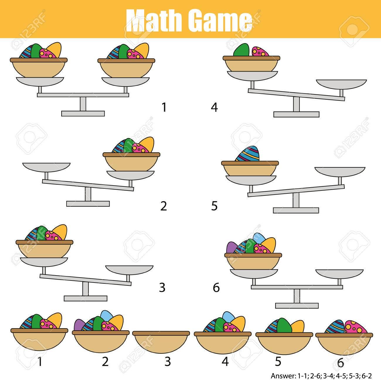 Mathematik Lernspiel Für Kinder. Balance Der Skala. Lernzählung ...
