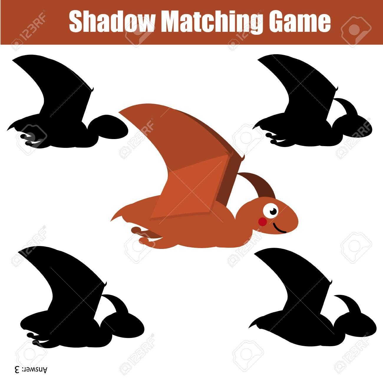 Schatten-Matching-Spiel Für Kinder. Finden Sie Das Richtige ...