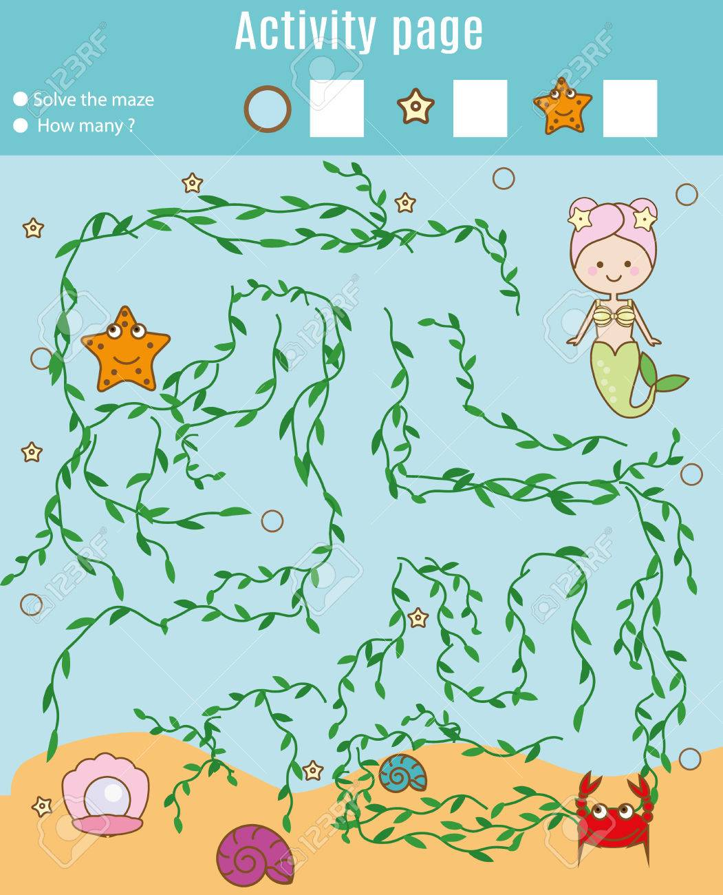Aktivitätsseite Für Kinder. Pädagogisches Spiel Labyrinth Und ...