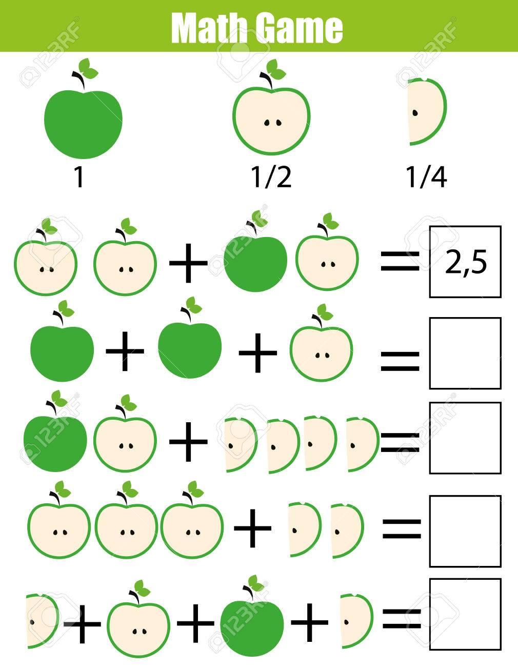 Matemáticas Juego Educativo Para Los Niños. Conteo De Aprendizaje ...
