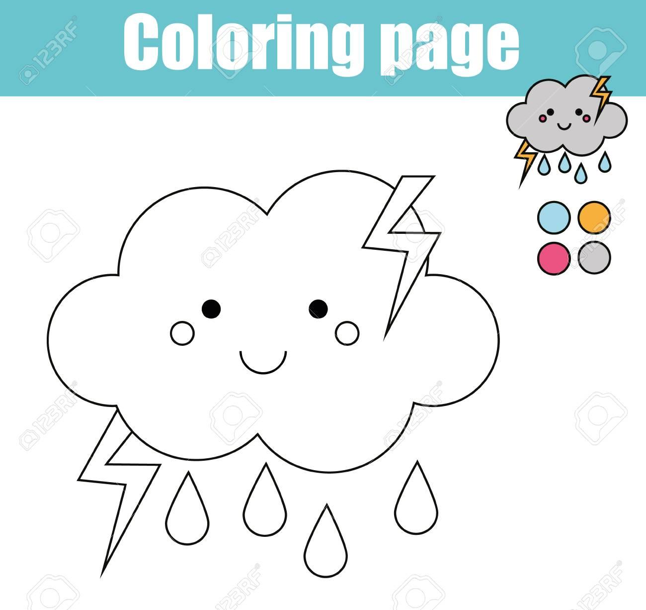 Vettoriale Pagina Da Colorare Con Simpatico Personaggio Delle