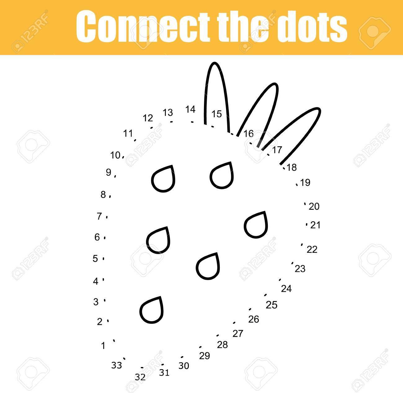 Verbinde Die Punkte Kinder Pädagogisches Zeichenspiel. Punkt Zu ...