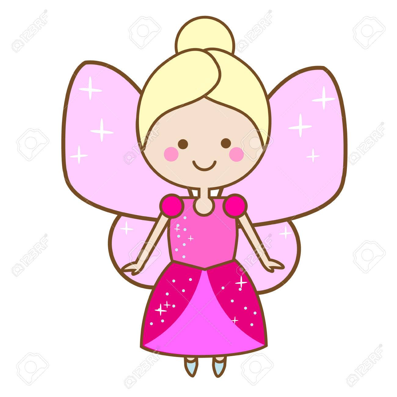 Caracter De Hadas Lindo Princesa Alada Del Duende En Vestido