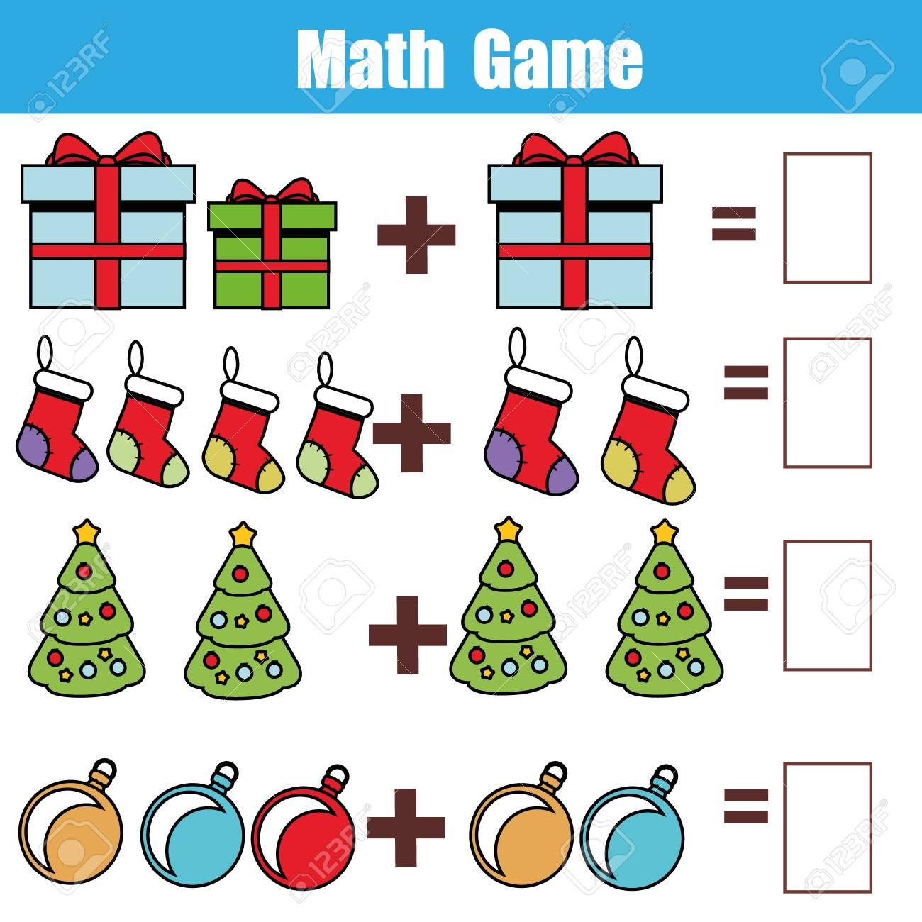 Juego Educativo Matematico Para Ninos Contando Ecuaciones Hoja De