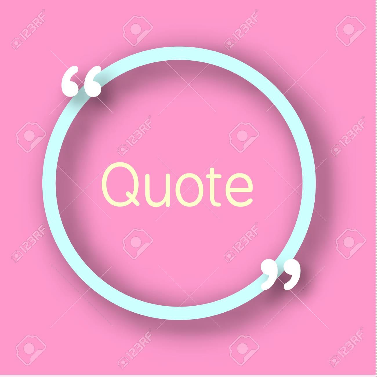 Blauer Kreis Form Papier Rahmen Mit Kommas Für Ihren Text. Zitieren ...