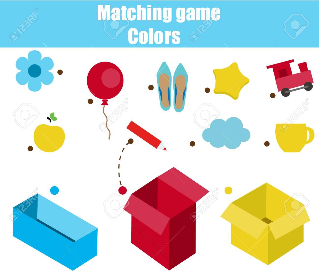 Educational Children Game. Matching Game Worksheet For Kids ...