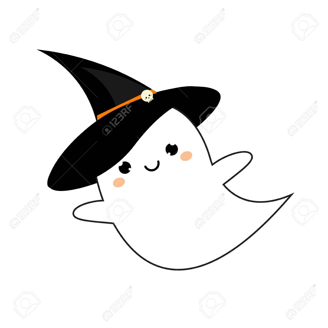 Cute Ghost In Halloween Hat Royalty Free Cliparts Vectors And Stock Illustration Image 88089456 With tenor, maker of gif keyboard, add popular cute ghost animated gifs to your conversations. cute ghost in halloween hat