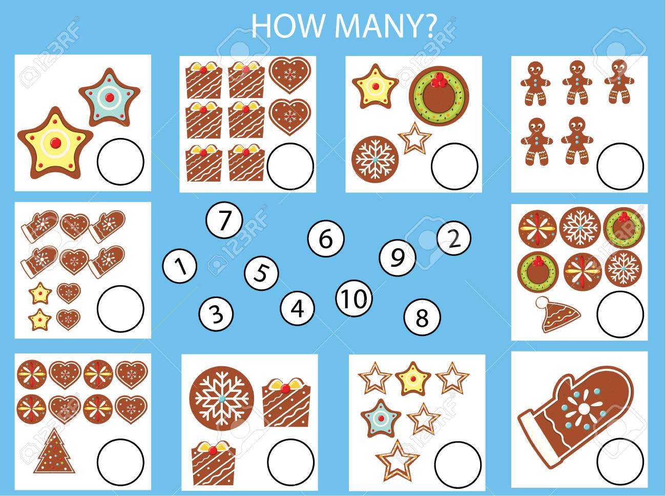 Counting Educational Children Game, Kids Activity Worksheet ...