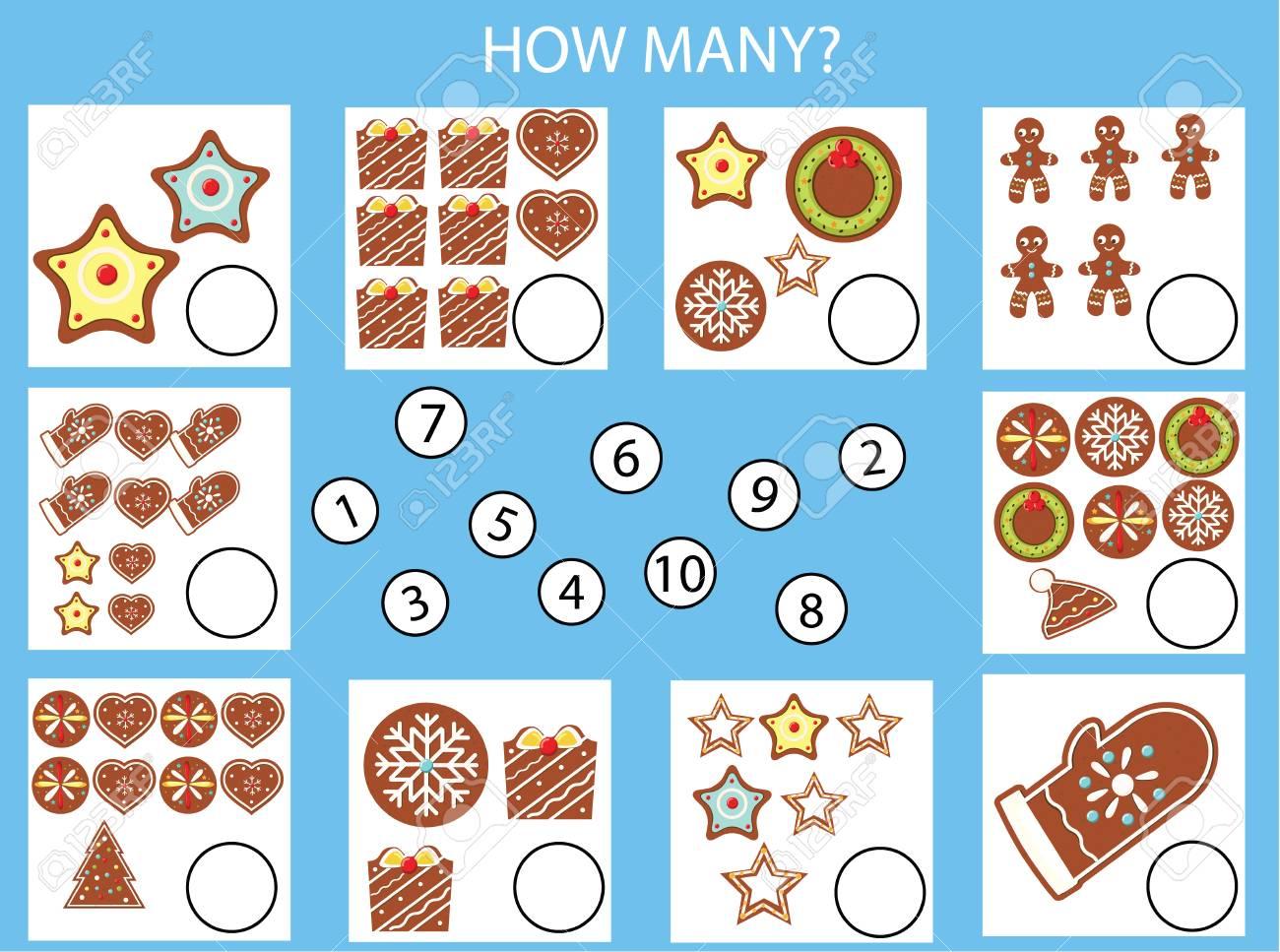 Math Holiday Worksheets Free Vector &