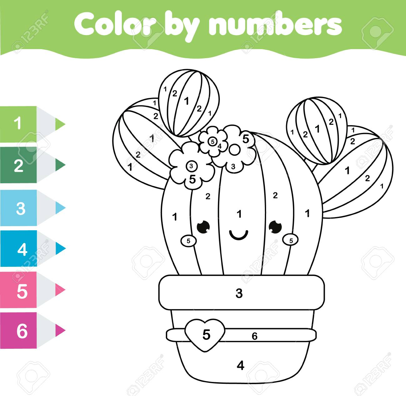 image regarding Free Printable Cactus Coloring Pages named Small children insightful recreation. Coloring web page with adorable cactus. Colour..