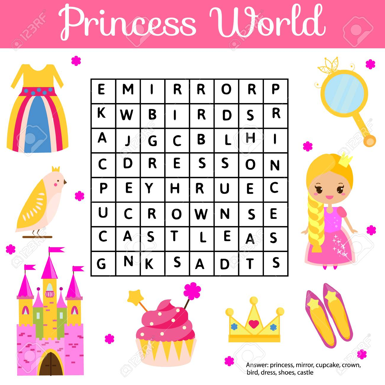 photograph relating to Free Printable Word Searches for Kids called Term appear puzzle little ones game. Useful young children video game for..