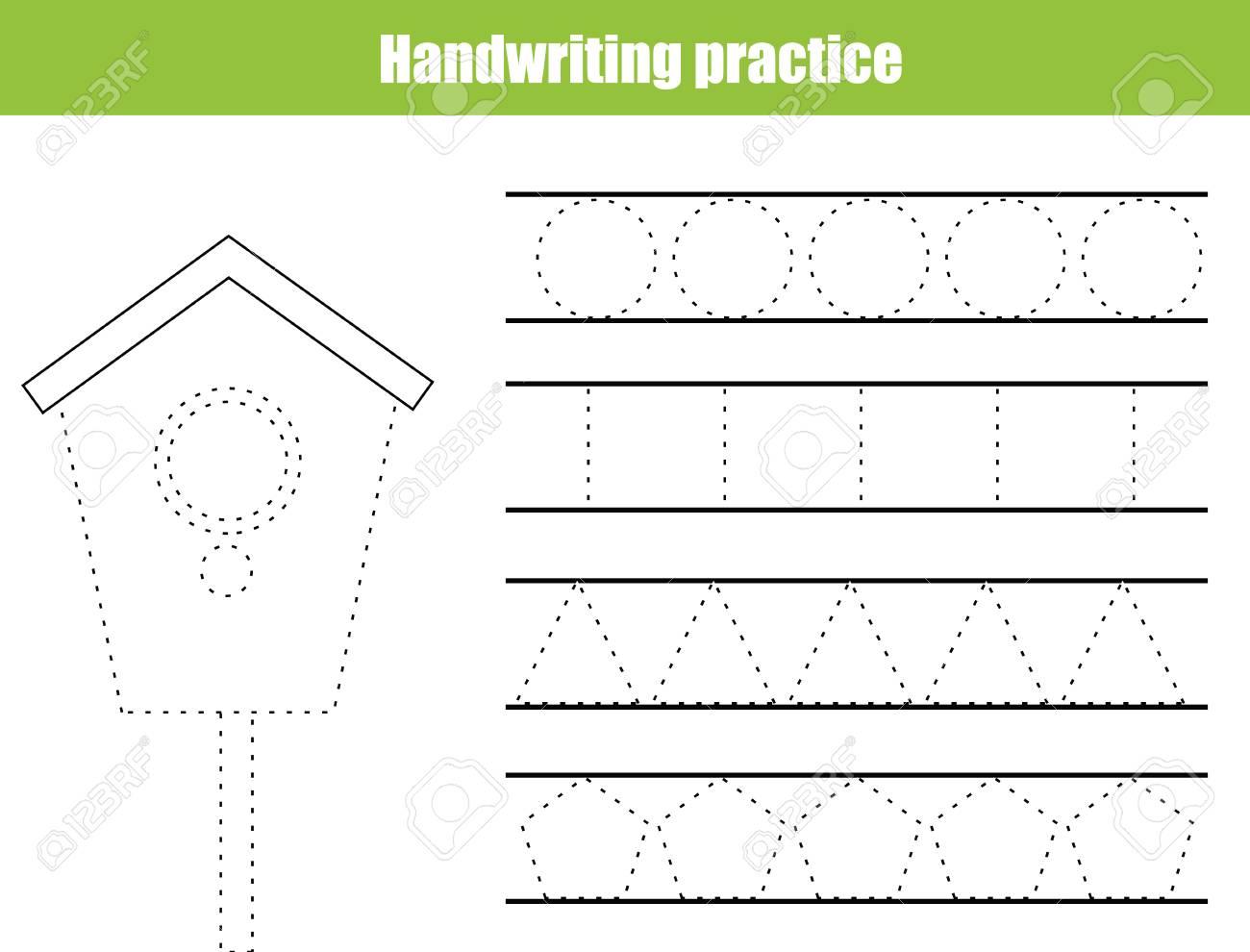 - Handwriting Practice Sheet. Educational Children Game, Printable