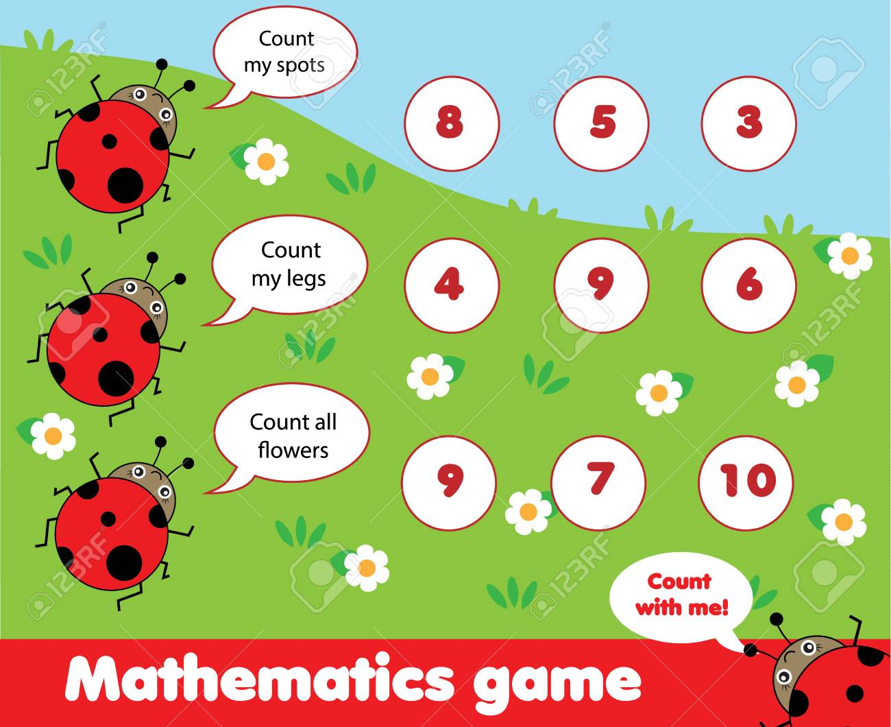Educational Children Game. Counting Game. Math Kids Activity ...