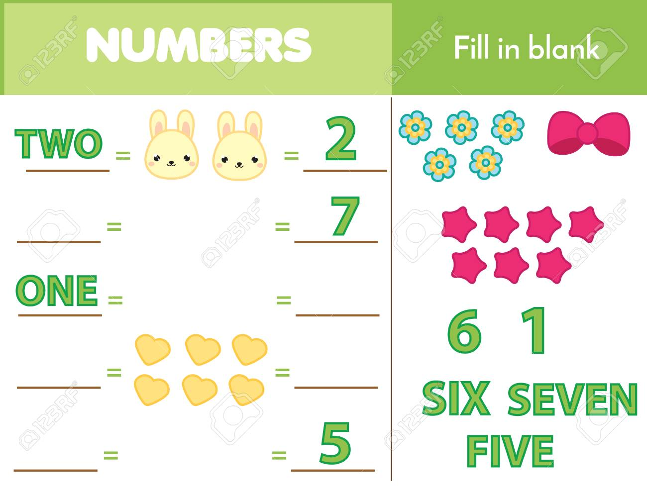 Counting Educational Children Game, Math Kids Activity Sheet ...