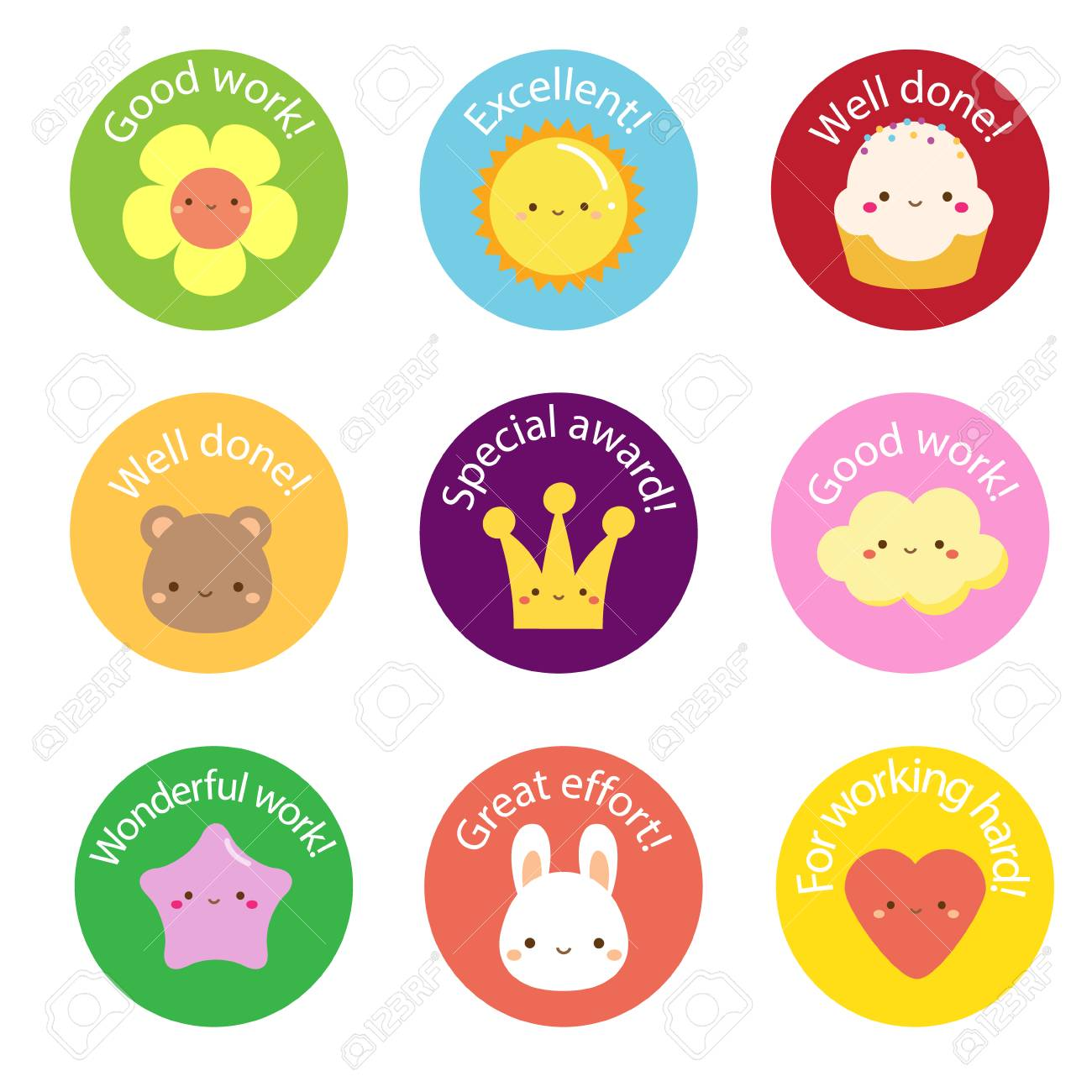school labels for teachers. award stickers for pupils, kids with