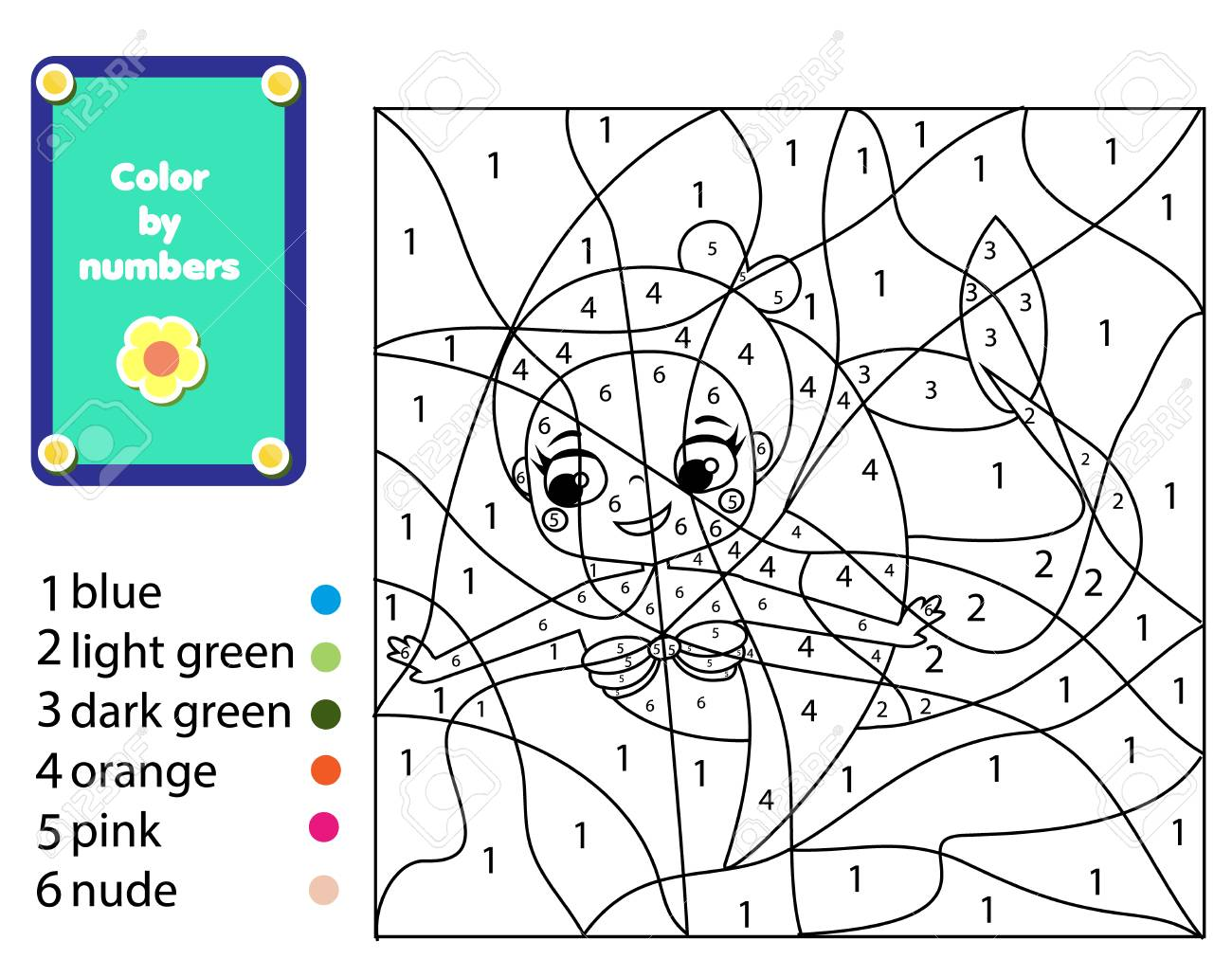 It is a photo of Printable Color by Number throughout pixel art