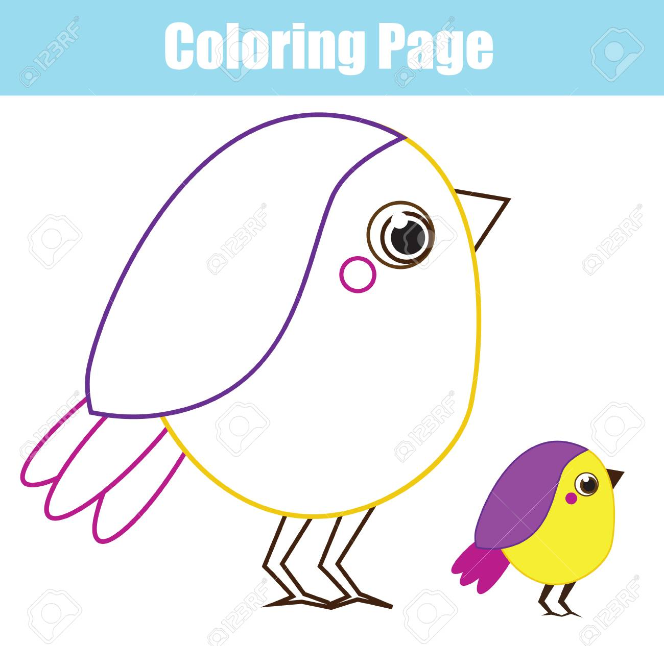 Coloring page for children and kids printable toddlers fun page elementary