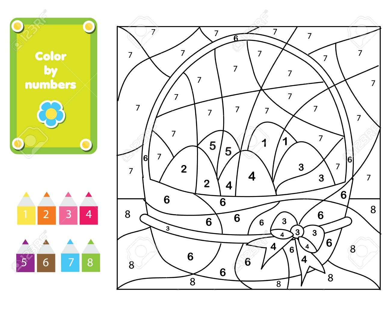 Coloring Page For Kids Educational Children Game Color By